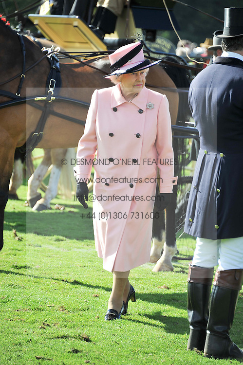 HM The QUEEN at Al Habtoor Royal Windsor Cup Final 2012 at Guards Polo Club, Berkshire on 24th June 2012.