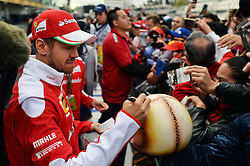 Sebastian Vettel (GER) Ferrari signs autographs for the fans.<br /> 27.10.2016. Formula 1 World Championship, Rd 19, Mexican Grand Prix, Mexico City, Mexico, Preparation Day.<br />  <br /> / 271016 / action press