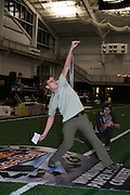 Avery Reynolds, a senior studying Audio Post Production throws his paper airplane qualifying fourteenth in the nation with a time of 7 seconds at the Red Bull Paper Wings Qualifier hosted at Ohio University. © Ohio University / Photo by Olivia Wallace