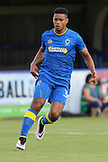 AFC Wimbledon striker Lyle Taylor (33) during the Pre-Season Friendly match between AFC Wimbledon and Crystal Palace at the Cherry Red Records Stadium, Kingston, England on 27 July 2016. Photo by Stuart Butcher.