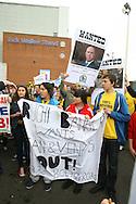 Picture by Paul Chesterton/Focus Images Ltd.  07904 640267.21/04/12.Blackburn fans protest before the Barclays Premier League match at Ewood Park Stadium, Blackburn