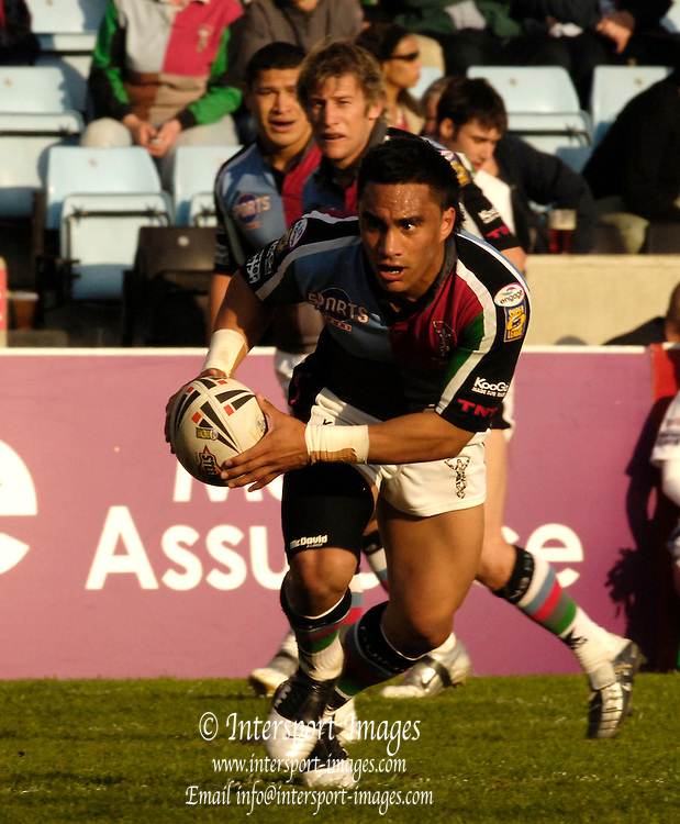 Twickenham, Surrey, ENGLAND, 29.04.2006, Thomas Leuluai, during the Super League match Quins RL vs Huddersfield Giants, at The Stoop,  © Peter Spurrier/Intersport-images.com,Rugby League .
