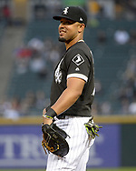 CHICAGO - JUNE 11:  Jose Abreu #79 of the Chicago White Sox looks on against the Cleveland Indians on June 11, 2018 at Guaranteed Rate Field in Chicago, Illinois.  (Photo by Ron Vesely)  Subject: Jose Abreu