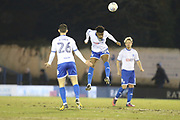 Rohan Ince for Bury heads during the EFL Sky Bet League 1 match between Bury and Peterborough United at the JD Stadium, Bury, England on 13 March 2018. Picture by Graham Holt.