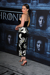 """Emilia Clarke, at the """"Game of Thrones"""" Sixth Season Premiere, Dolby Theater, Hollywood, CA 04-10-16. EXPA Pictures © 2016, PhotoCredit: EXPA/ Photoshot/ Martin Sloan<br /> <br /> *****ATTENTION - for AUT, SLO, CRO, SRB, BIH, MAZ, SUI only*****"""