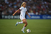 United States midfielder Lindsey Horan (9) kicks the ball in an international friendly women's soccer match, Saturday, Aug. 3, 2019,  in Pasadena, Calif., The U.S. defeated Ireland 3-0. (Dylan Stewart/Image of Sport)