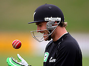 Brendan McCullum prepares to bat.<br /> National Bank Test Match Series, New Zealand v England, Black Caps Nets Practice. Allied Prime Basin Reserve, New Zealand. Tuesday, 11 March 2008. Photo: Dave Lintott/PHOTOSPORT