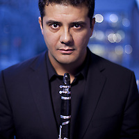 Yann Ghiro, clarinetist of The Hebrides Ensemble.<br /> <br /> Picture Drew Farrell<br /> Tel : 07721-735041.