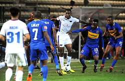 Cape Town 18-03-03 Cape Town City players defending while Chippa United attacking  in the PSL Game In Athlone Staduim Pictures Ayanda Ndamane African news agency/ANA