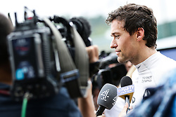 Jolyon Palmer (GBR) Renault Sport F1 Team with the media.<br /> 08.10.2016. Formula 1 World Championship, Rd 17, Japanese Grand Prix, Suzuka, Japan, Qualifying Day.<br />  Copyright: Bearne / XPB Images / action press
