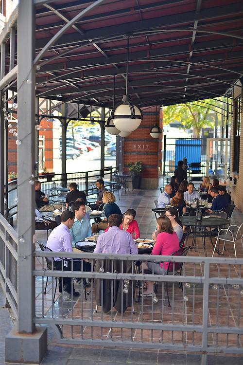 Outdoor patio at Cilantro Thai & Sushi Restaurant.
