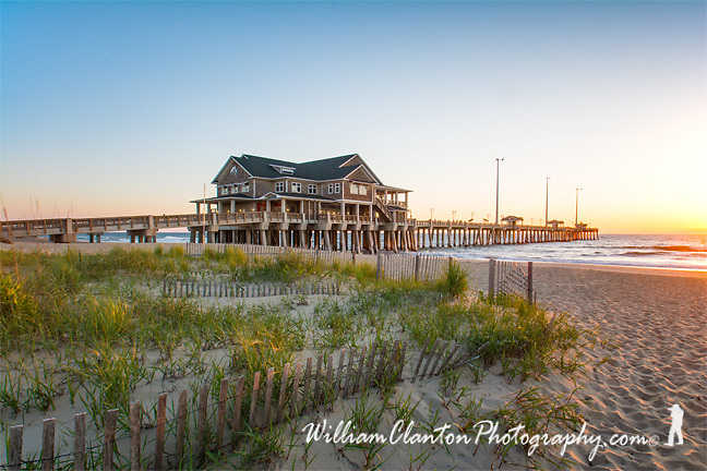 Early morning sunrise at Jennette's Pier in the Outer Banks of North Carolina. A very cool place, if you ever get the chance make sure to walk out on the pier.