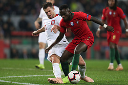 November 20, 2018 - Guimaraes, Guimaraes, Portugal - Bruma midfielder of Portugal (R) vies with Grzegorz Krychowiak midfielder of Poland (L) during the UEFA Nations League football match between Portugal and Poland at the Dao Afonso Henriques stadium in Guimaraes on November 20, 2018. (Credit Image: © Dpi/NurPhoto via ZUMA Press)