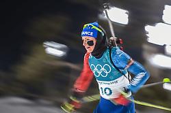 February 12, 2018 - Pyeongchang, Gangwon, South Korea - Justine Braisaz ofFrance competing at Women's 10km Pursuit, Biathlon, at olympics at Alpensia biathlon stadium, Pyeongchang, South Korea. on February 12, 2018. (Credit Image: © Ulrik Pedersen/NurPhoto via ZUMA Press)