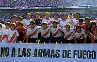 08/10/06 -Bs.As. - Argentina - RIVER PLATE (3) Vs. BOCA Jrs. (1) in the Argentine Football Derby . Match at the River Plate Monumental Stadium.<br /> Here RIVER PLATE team players<br /> Torneo Apertura 2006/2007.<br /> © Argenpress.com / PikoPress
