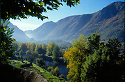 France, Languedoc and Roussillon.  Tarascon sur Ariege, Ariege Valley.