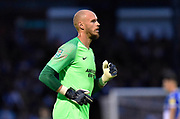 David Button (27) of Brighton and Hove Albion during the EFL Cup match between Bristol Rovers and Brighton and Hove Albion at the Memorial Stadium, Bristol, England on 27 August 2019.