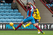 Goal Oxford United forward James Henry shoots and scores a goal to take the lead 0-1 during the EFL Sky Bet League 1 match between Scunthorpe United and Oxford United at Glanford Park, Scunthorpe, England on 3 November 2018.