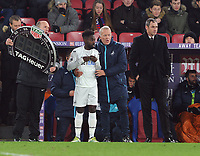 Football - 2016 / 2017 Premier League - Crystal Palace vs. Swansea City<br /> <br /> New Swansea Manager Paul Clement comes down from the stands as Caretaker Manager Alan Curtis brings on Nathan Dyer at Selhurst Park.<br /> <br /> COLORSPORT/ANDREW COWIE