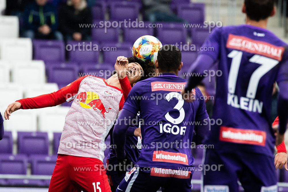 05.05.2019, Generali Arena, Wien, AUT, 1. FBL, FK Austria Wien vs FC Red Bull Salzburg, Meistergruppe, 29. Spieltag, im Bild v. l. Andre Ramalho (FC Red Bull Salzburg), Igor Julio Dos Santos De Paulo (FK Austria Wien) // f. l. Andre Ramalho (FC Red Bull Salzburg) Igor Julio Dos Santos De Paulo (FK Austria Wien) during the tipico Bundesliga master group 29th round match between FK Austria Wien and FC Red Bull Salzburg at the Generali Arena in Wien, Austria on 2019/05/05. EXPA Pictures © 2019, PhotoCredit: EXPA/ Florian Schroetter