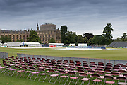 General view of the college & ground before the Specsavers County Champ Div 2 match between Gloucestershire County Cricket Club and Leicestershire County Cricket Club at the Cheltenham College Ground, Cheltenham, United Kingdom on 15 July 2019.