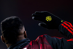 Manchester United glove worn by Aaron Wan-Bissaka of Manchester United - Mandatory by-line: Robbie Stephenson/JMP - 24/11/2019 - FOOTBALL - Bramall Lane - Sheffield, England - Sheffield United v Manchester United - Premier League