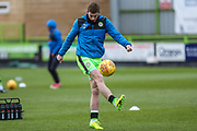 Forest Green Rovers Luke James(33) warming up during the EFL Sky Bet League 2 match between Forest Green Rovers and Luton Town at the New Lawn, Forest Green, United Kingdom on 16 December 2017. Photo by Shane Healey.