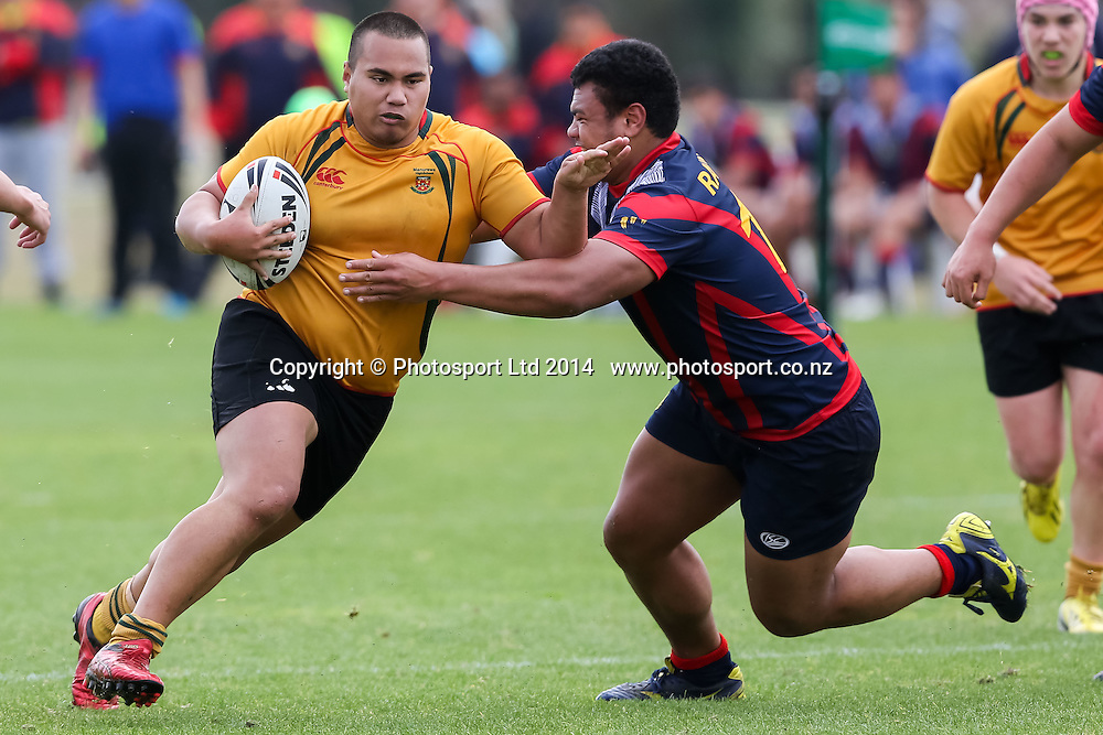 Manurewa High's Jackson Faavaoga  during Manurewa High v Rotorua Boys, National Secondary Schools Rugby League Tournament, Day 3 , Bruce Pulman Park, Auckland, 3 September 2014. Photo: David Joseph / photosport.co.nz