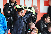 FGR supporter during the EFL Sky Bet League 2 match between Lincoln City and Forest Green Rovers at Sincil Bank, Lincoln, United Kingdom on 3 November 2018.