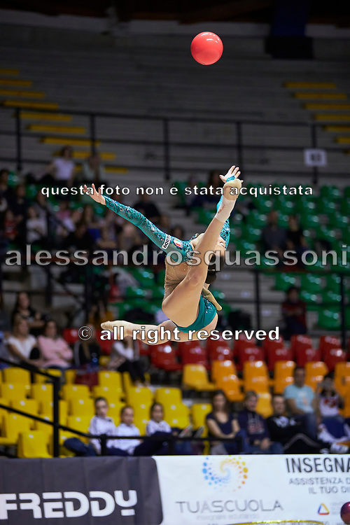 """Alessia Russo by team italia of rhythmic gymnastics  during the """"7th tournament city of Desio"""", 09 March 2019."""