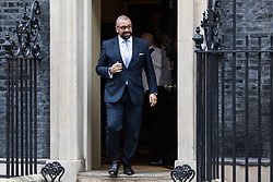 London, UK. 7 January, 2020. James Cleverly, Minister Without Portfolio, leaves 10 Downing Street following a Cabinet meeting.