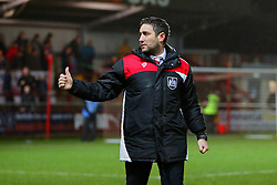 Bristol City head coach Lee Johnson gives a thumbs up to the fans at full time - Mandatory by-line: Matt McNulty/JMP - 17/01/2017 - FOOTBALL - Highbury Stadium - Fleetwood,  - Fleetwood Town v Bristol City - Emirates FA Cup Third Round Replay