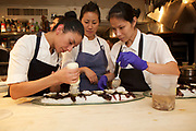 New York, NY - October 17, 2017: Chef Victoria Blamey and her team from Chumley's present dinner at the James Beard House in Greenwich Village.<br /> <br /> <br /> CREDIT: Clay Williams for The James Beard Foundation.<br /> <br /> &copy; Clay Williams / claywilliamsphoto.com