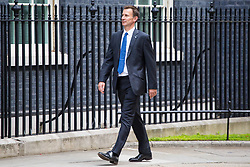 London, July 18th 2017. Health Secretary Jeremy Hunt attends the last cabinet meeting before the Parliamentary summer recess at Downing Street in London.