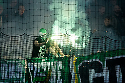 Green Dragons during football match between NK Olimpija Ljubljana and NK Aluminij in semi final of Slovenian Cup 2018/19, on April 23, 2019 in Stozice Stadium, Ljubljana, Slovenia. Photo by Morgan Kristan
