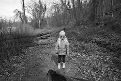 Lotus Hoben on a hike during the coronavirus pandemic in the Hudson Valley, New York. Forest and Lotus Hoben, ages 10 and 6, were adopted from China and have albinism, a rare group of genetic disorders that cause the skin, hair, or eyes to have little or no color. Albinism is also associated with vision problems. According to the National Organization for Albinism and Hypopigmentation, about 1 in 18,000 to 20,000 people in the United States have a form of albinism.