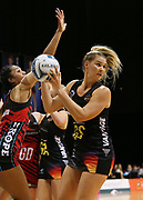 Magic goal shoot Lenize Potgieter looks to pass during the ANZ Premiership netball match - Magic v 170529 ANZ Premiership - Magic v Tactix played at Claudelands Arena, Hamilton, New Zealand on Monday 29 May 2017. Copyright photo: Bruce Lim / www.photosport.nz
