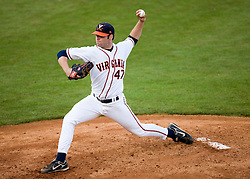 Virginia Cavaliers LHP Jeff Lorick (47).  The #16 ranked Virginia Cavaliers baseball team faced the William and Mary Tribe at the University of Virginia's Davenport Field in Charlottesville, VA on April 23, 2008.
