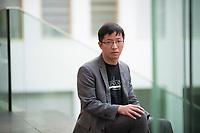 DEU, Deutschland, Germany, Berlin, 11.09.2019: Wong Yik Mo, Mitglied der Civil Human Rights Front, in der Bundespressekonferenz zur Lage in Hongkong.