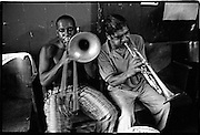 Musicians practicing for Carnival
