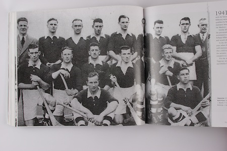 Cork-All-Ireland Hurling Champions 1941. Back Row: Jim Barry (trainer), C Buckley (capt), M Brennan, A Lotty, J Lynch, B Thornhill, J Barrett, T O'Sullivan, W Walsh, (chairman). Middle Row: W Campbell, D J Buckley, J Buttimer, J Quirke, W Murphy, J Young. Front Row: C Ring, C Cottrell.
