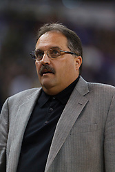 Jan 8, 2012; Sacramento, CA, USA; Orlando Magic head coach Stan Van Gundy on the sidelines against the Sacramento Kings during the first quarter at Power Balance Pavilion. Mandatory Credit: Jason O. Watson-US PRESSWIRE