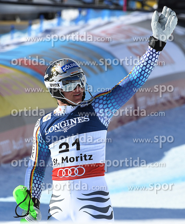 13.02.2017, St. Moritz, SUI, FIS Weltmeisterschaften Ski Alpin, St. Moritz 2017, alpine Kombination, Herren, Slalom, im Bild Thomas Dressen (GER) // Thomas Dressen of Germany reacts after his run of Slalom competition for the men's Alpine combination of the FIS Ski World Championships 2017. St. Moritz, Switzerland on 2017/02/13. EXPA Pictures &copy; 2017, PhotoCredit: EXPA/ Sammy Minkoff<br /> <br /> *****ATTENTION - OUT of GER*****