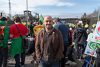 Patrick Harvie, leader of the Scottish Greens at the Trident base in Faslane where Great Britain keeps its nuclear submarines.