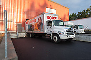 20181024, Wednesday, October 24, 2018, Dartmouth, MA, USA – My Brother's Keeper welcomed two sets of Bob's Discount Furniture delivery drivers to their Dartmouth location on Wednesday morning as the drivers unloaded much needed donated furniture to be soon delivered by the many hands of the My Brother's Keeper volunteers. <br /> <br /> Wednesday morning was Bob's Discount Furniture's second visit to the Dartmouth facility where they have now dontated many new mattresses, loveseats, and recliners to the still very new My Brother's Keeper Dartmouth facility on Wednesday October 24, 2018.  <br /> <br /> ( 2018 © lightchaser photography )