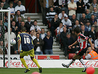 Photo: Lee Earle.<br /> Southampton v Derby County. Coca Cola Championship. Play Off Semi Final, 1st Leg. 12/05/2007.Southampton's Andrew Surman (R) scores the opening goal.