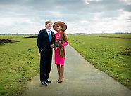 King Willem-Alexander and Queen Maxima visit the Krimpenerwaard, 21-02-2017