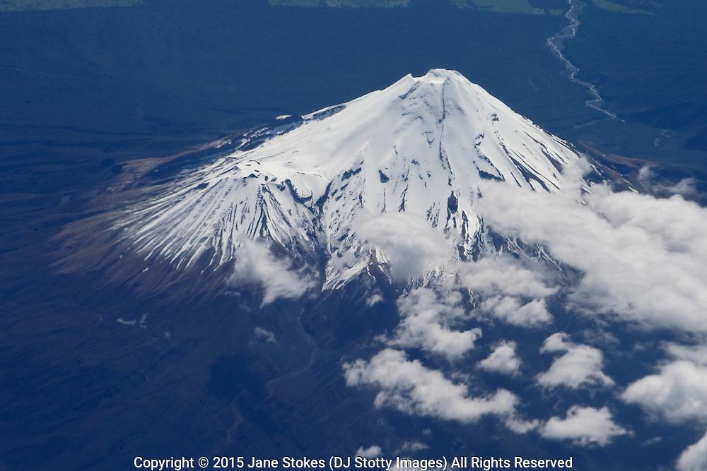 Mount Taranaki<br /> <br /> Air New Zealand flight from Auckland to Wellington on Saturday 07 November 2015 at 1425.