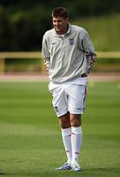 Photo: Chris Ratcliffe.<br />England training session. 06/06/2006.<br />Steven Gerrard at training.