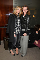 "Left to right, KIM HERSOV and MELISSA KNATCHBULL at a private screening Of ""The Gun, The Cake and The Butterfly"" hosted by Amanda Eliasch at The Bulgari Hotel, 171 Knightsbridge, London on 24th March 2014."